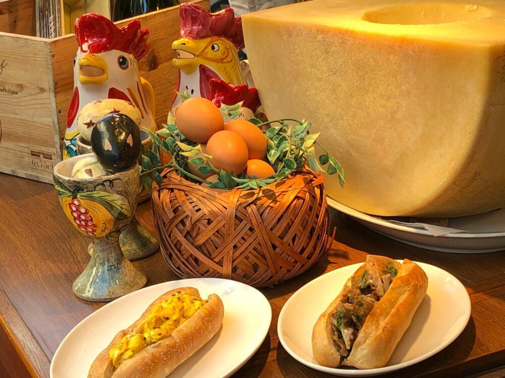 王様のたまごパンと王様のランプレドット